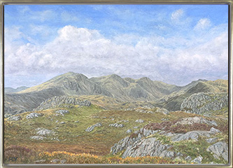 Scafell Pike from Harter Fell, Cumbria