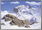 Monte Rosa in Winter, painted in acrylic on canvas by Peter Young, 2007