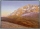 Evening light on the Säntis, painted in acrylic on canvas by Peter Young, 2003